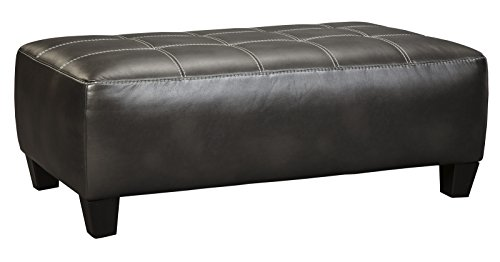 Ashley Furniture Signature Design - Nokomis Contemporary Oversized Accent Ottoman - Charcoal Grey