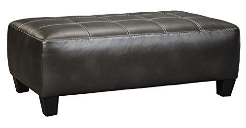 (Ashley Furniture Signature Design - Nokomis Contemporary Oversized Accent Ottoman - Charcoal Grey)
