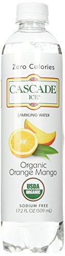 Cascade Ice Organic Sparkling Water, Orange Mango, 17.2 Fluid Ounce (Pack of 12)