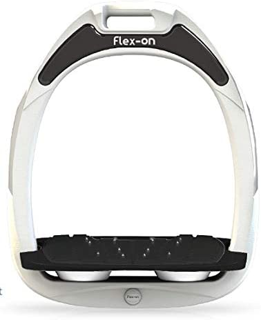 【Amazon.co.jp 限定】フレクソン(Flex-On) 鐙 ガンマセーフオン GAMME SAFE-ON Mixed ultra-grip フレームカラー: ホワイト フットベッドカラー: ブラック エラストマー: ホワイト 06197