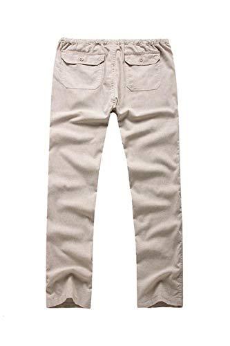 Hommes Vepodrau Beige Les Coton Occasionnels Linge De Droit Pantalons Bien rr5wq6p1