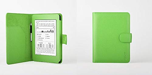Light Green Color Folio Slim PU Soft Leather Case Cover For Amazon Kindle  Paperwhite