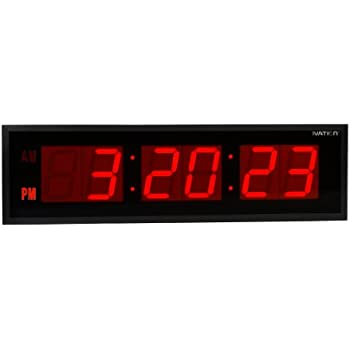 Amazoncom Active Living Oversized Digital LED Dynamic Wall Clock