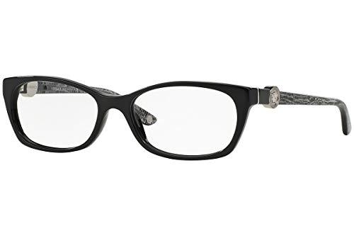 Versace Women's VE3164 Eyeglasses Shiny Black 53mm