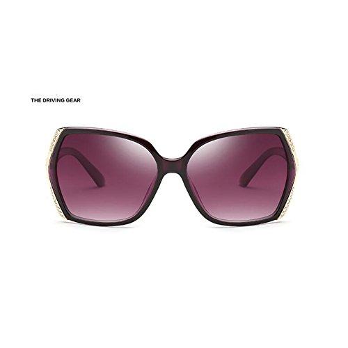 d60ff15768 CJC Polarizado Gafas de sol Mujer Sombras Clásico Sobredimensionado 100% UV  Proteccion ( Color :