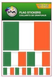 Ireland Irish Country Flag Set of 7 Different Size Collection Decal Stickers ... New in Package