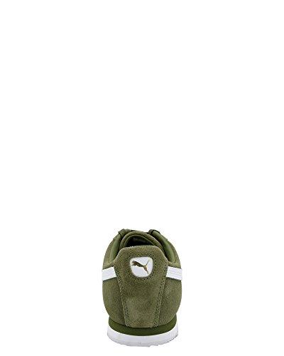 Puma Mens Roma Suede Mode Sneaker Capulet Olive-puma Blanc-puma Équipe Gold-amazon Vert