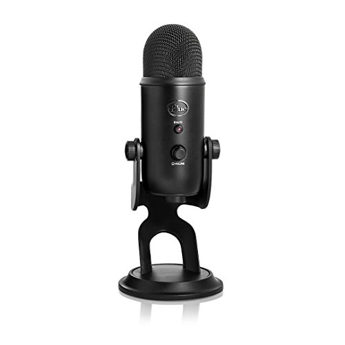 Blue Microphones Yeti USB Microphone with Studio Headphones and Knox Pop Filter