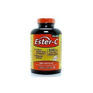 American Health Ester-C 500mg With Bioflavonoids - 240 Capsules, 12 Pack
