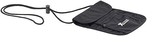 Xcase Brusttasche: Unisex Brustbeutel mit 4 Taschen, 1 Stifthalter, 255 x 145 mm, schwarz (Brusttasche-Brustbeutel)