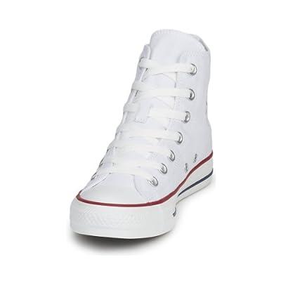 Converse Unisex Chuck Taylor All Star HI Basketball Shoe (7.5 B(M) US Women / 5.5 D(M) US Men, Optical White)