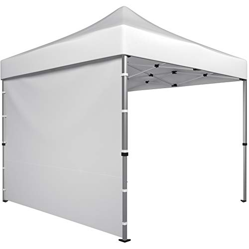 (Canopy Sidewalls for 10x10 Tent - Sunwall Privacy Screen for Pop Up Tent or Gazebo Shelter - Outdoor Side Sun Shade Panel - 1 x White Sidewall 120x86 )