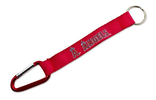(MLB Los Angeles Angels Carabiner Lanyard Keychain)