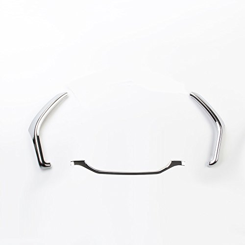 Dashboard Side meter Chrome Cover trims Kit for 2015 2016 2017 2018 Ford F150 Super Duty