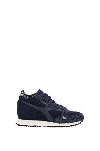 Trident W Sneaker Donna DENIM TRIDENT MID REPTILEBLUE Diadora Heritage qYW0Sdw