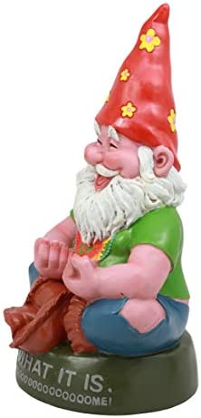 Ebros Highly Content Meditating Hippie Gnome Statue As Collectible of Hipster Happy Gnomes Perfect