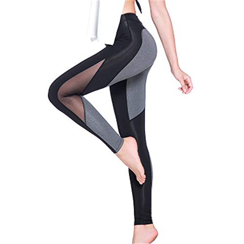 Verve Yoga Pants - yanluzz Quick-Drying Outdoor Sports Yoga Running Trousers Tights High-Elastic Peach Hip Fitness Pants Gray M