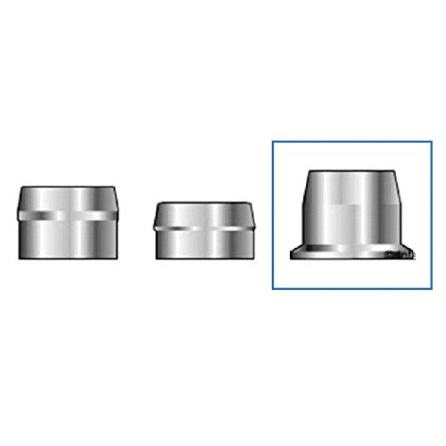 (QS-QUICK SHIP) Huck C50L 3LC-2R16G Lockbolt Collar; 1/2 Inch (0.500 Inch), FLNG Collar, Grade 5 Steel, Zinc CLR TRIV