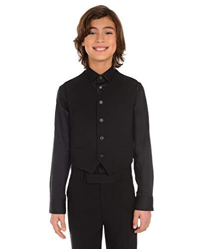 Calvin Klein Dress Up Big Boys' Bi-Stretch Vest, Black, Small by Calvin Klein (Image #3)