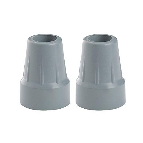 Urge Medical Crutch Tips, Gray, 7/8 Inch (2)