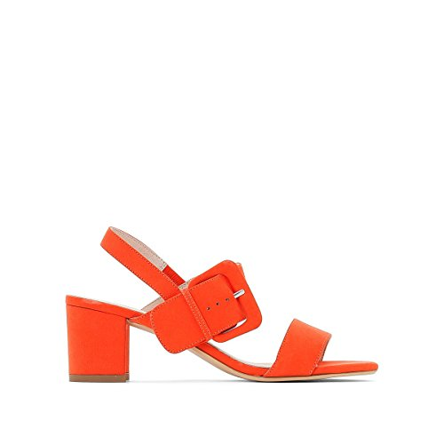 La Redoute Collections Womens Sandals with Buckle Detail Coral