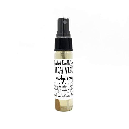 Smudge Spray High Vibes 1 oz Palo Santo Cedar White Sage Mist]()