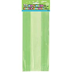 Lime Green Cellophane Bags, 30ct