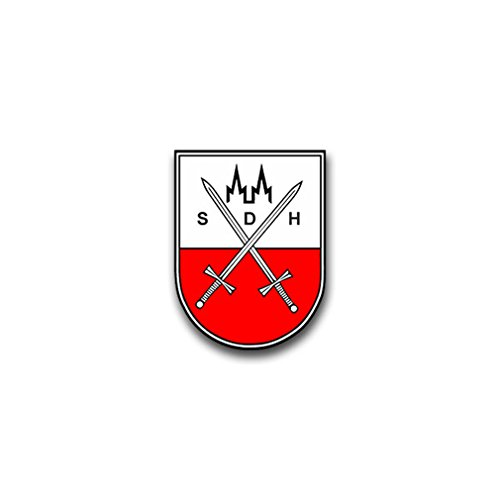 Union coat of arms of the military service office of the army SDH Cologne coat of arms Emblem badge Bundeswehr fit for Opel VW Golf GTI (5x7cm) - Sticker Wall Decoration ()