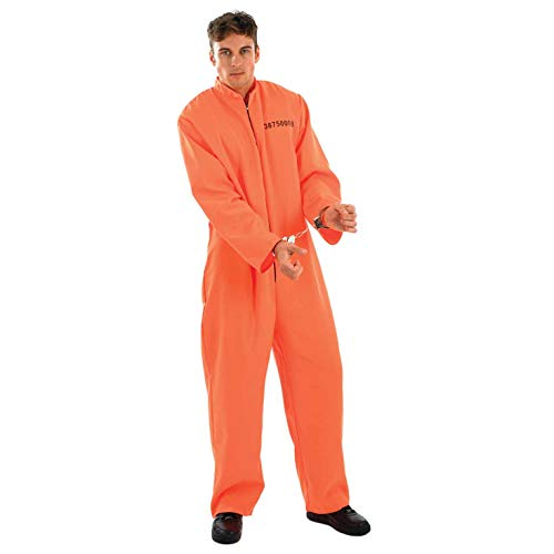 Orange Convict Costume (fun shack Mens Prisoner,)
