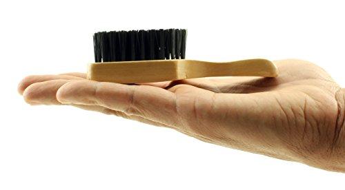 Mini Reinforced Hard Boar Bristle Club Brush Natural Wooden