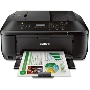 Canon PIXMA MX532 Inkjet Multifunction Printer - Color - Photo Print - Desktop - Copier/Fax/Printer/Scanner - 9.7 ipm Mono/5.5 ipm Color Print (ISO) - 46 Second Photo - 4800 x 1200 dpi Print cpm Mono/4.7 cpm Color Copy LCD - 1200 dpi Optical Scan - Automa