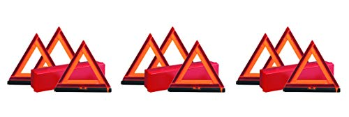 Deflecto Early Warning Road Safety Triangle Kit, Reflective, (73-0711-00) (3 Kits) For Sale