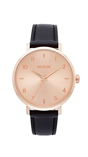Nixon Women's 'Arrow Leather' Quartz Stainless Steel Casual Watch, Color:Black (Model: A10911098)