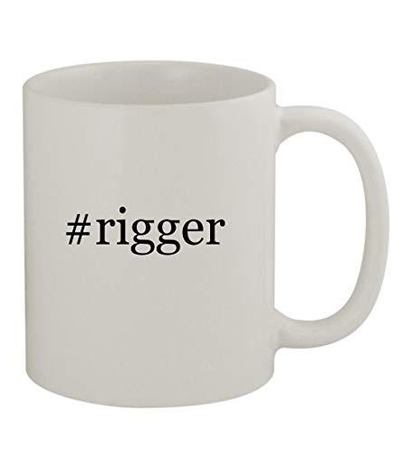 #rigger - 11oz Sturdy Hashtag Ceramic Coffee Cup Mug, White