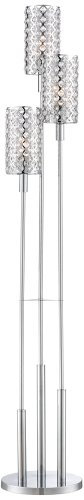 Glitz Crystal and Chrome Floor Lamp (Chrome Three Shade Lamp)