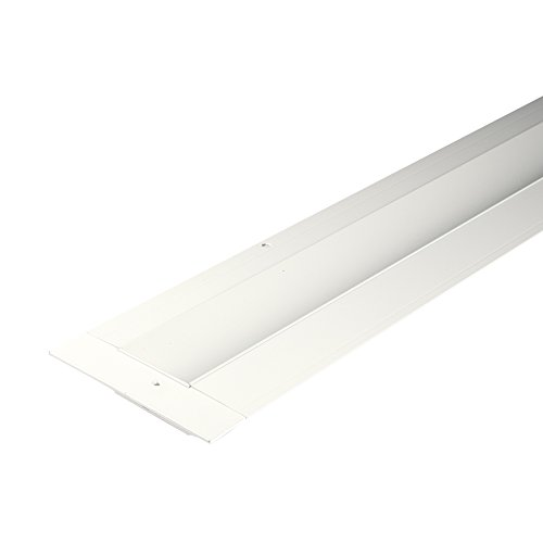 WAC Lighting LED-T-RCH1-WT InvisiLED Linear Symmetrical Recessed Channel, 8', White by WAC Lighting