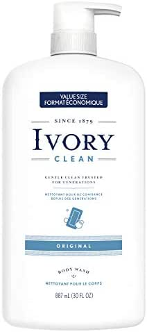 Ivory Clean Original Body Wash, 30.0 Fluid Ounce (Pack of 4)