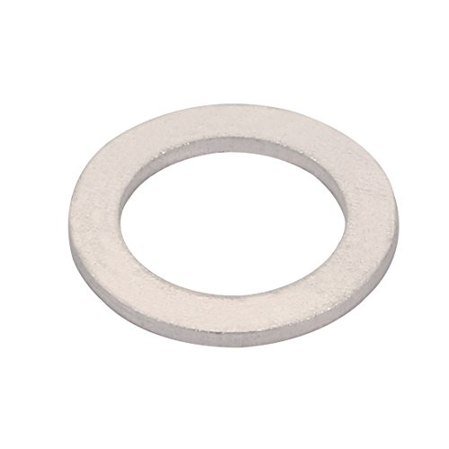 uxcell 200Pcs 15mmx22mmx1.5mm Aluminum Motorcycle Hardware Drain Plug Washer by uxcell (Image #2)