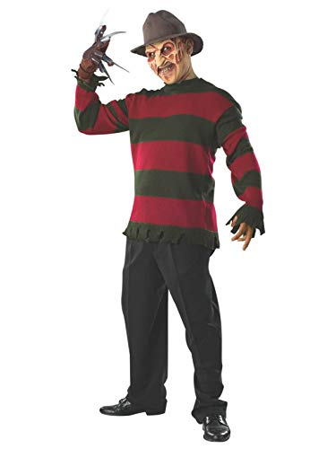 Rubie's Men's Nightmare On Elm St Deluxe Freddy Sweater Costume with Mask, As As Shown, Extra-Small -