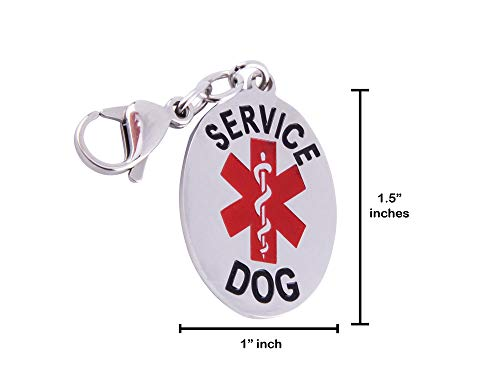 Doggie Stylz Service Dog Cat Official ID Tag. Hang from a Collar, Vest, Harness or Leash. Great Form of Identification for Small to Large Breeds Service Dogs Protected by Federal Law ()