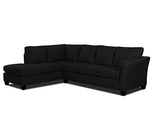 Klaussner E16 Drew Sectional Right Sofa/ Left Chaise, Onyx