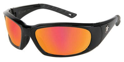 Crews Force Flex Next Generation Ultra-Flexible Safety Glasses With Fire Mirror Lens by Crews Safety Products