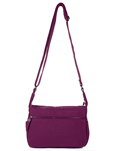 Purse Vivid Red 932 Mini Travel Shoulder Bag Violet 932 Nylon Crossbody Violet 5n1Pq0w7PH