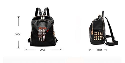 La femmina / la marea del sacchetto di spalla di modo la versione coreana dello zaino selvaggio / sacchetto molle del cuoio molle / sacchetto di svago di corsa / ( stile : 1 )