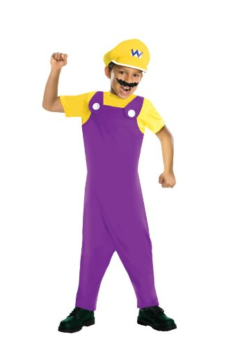 Girl Luigi Costumes (Super Mario Bros Wario Child Costume)
