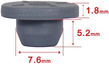 13mm Vial Rubber Stoppers-Two Legs 100 Count Can Be Sterilized by Steam and Repeated Used Self Healing Injection Ports Solid Seal 13mm-2 Legs