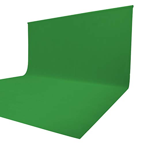 Issuntex 10X12 ft Green Background Muslin Backdrop,Photo Studio,Collapsible High Density Screen for Video Photography and Television