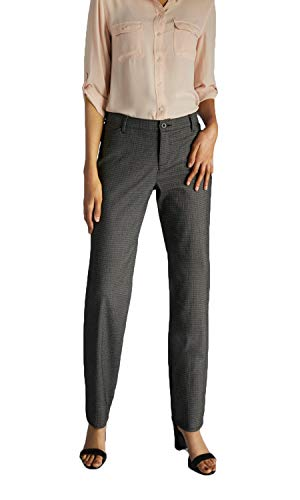 LEE Women's Relaxed Fit Straight Leg Pant, Black/White Plaid - 20 Short