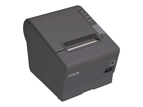 Epson C31CA85656 TM-T88V Thermal Receipt Printer with Power Supply, Energy Star Rated, Ethernet and USB Interface, Dark Gray