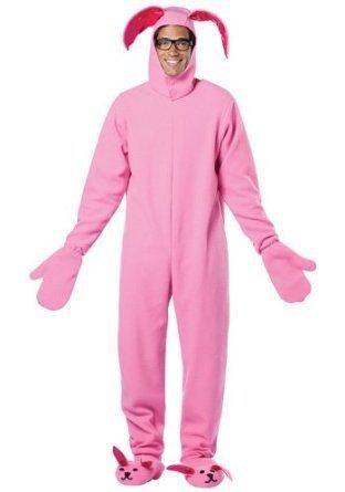 Amazon.com: A Christmas Story Adult Bunny Suit Pink Pajama Gag ...